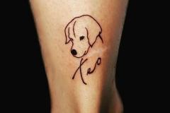 Татуировка : Собака, Животные на щиколотке