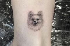 Татушка : Собака, Животные на щиколотке
