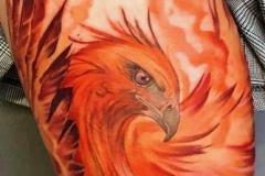 Татушка : Птицы, Цветные, Орел на бедре