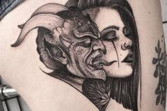Наколка : Люди, Демон на бедре