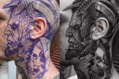 Наколка : Демон на голове