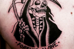 Наколка : Смерть, Череп на груди