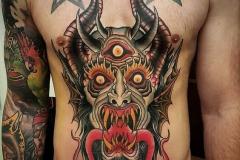 Наколка : Цветные, Демон на груди