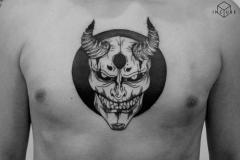 Наколка : Демон на груди