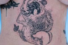 Татуировка : Люди, Животные, Цветы, Бабочка на животе