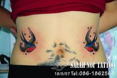 Татуировка : Ласточка, Птицы на животе
