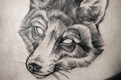 Наколка : Волк, Животные на животе