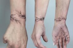 Татуировка : Браслет, Листья
