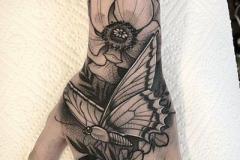 Тату : Цветы, Бабочка