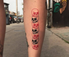 Татуировки на голени (икре)