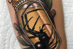 Татуировка : Цветные, Паук на голени (икре)