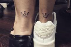Татуировка : Мини, Корона на голени (икре)