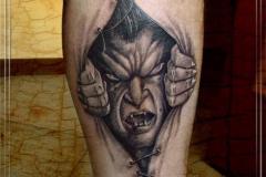 Татуировка : Демон на голени (икре)