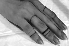 Татуировка : Кольцо на пальцах
