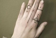 Тату : Узор, Кольцо на пальцах