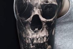 Татуировка : Рукав, Череп на плече