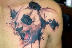 Наколка : Животные, Медведь на плече
