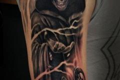 Татуировка : Череп, Смерть на плече