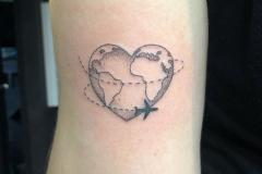 Наколка : Узор, Самолет, Сердце на плече