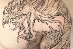 Татуировка : Змея, Дракон на плече