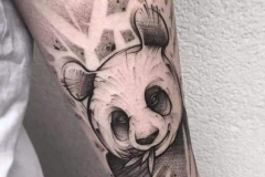Тату : Животные, Рукав, Медведь на плече