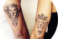 Наколка : Животные, Лев, Парные на плече