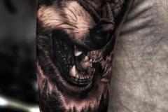 Тату : Волк, Животные, Рукав на плече