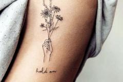 Наколка : Цветы, Руки на плече