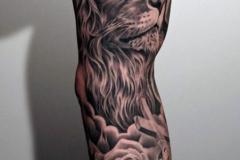 Татуировка : Животные, Рукав, Лев на плече