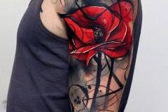 Татуировка : Цветы, Цветные на плече
