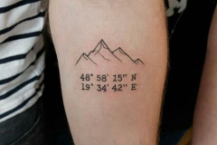 Наколка : Горы на плече