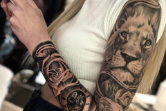 Татушка : Животные, Рукав, Лев на плече