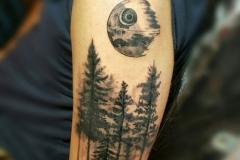 Татушка : Деревья, Луна на плече