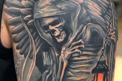 Наколка : Череп, Смерть на плече