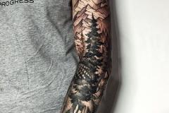 Тату : Деревья, Рукав на плече