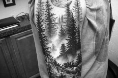 Татуировка : Деревья, Рукав на плече