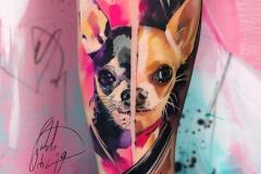 Татуировка : Собака, Животные на плече