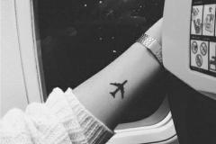 Татушка : Самолет, Мини на предплечье