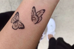 Татуировка : Бабочка на предплечье