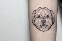 Татушка : Собака на предплечье