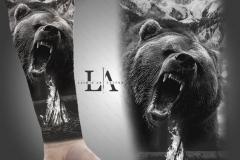 Татушка : Медведь, Животные, Рукав на предплечье