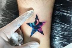 Тату : Звезды, Цветные на предплечье