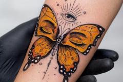 Татушка : Бабочка на предплечье