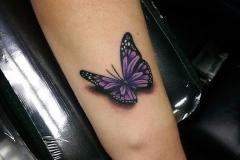 Тату : Бабочка, Цветные на предплечье