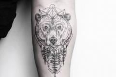 Тату : Медведь, Животные на предплечье