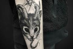 Татуировка : Демон, Животные на предплечье