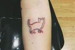 Наколка : Животные, Кошка на предплечье