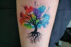 Наколка : Деревья, Цветные на предплечье