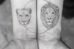 Татушка : Лев, Животные, Парные на предплечье