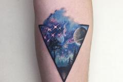 Наколка : Космос, Цветные на предплечье